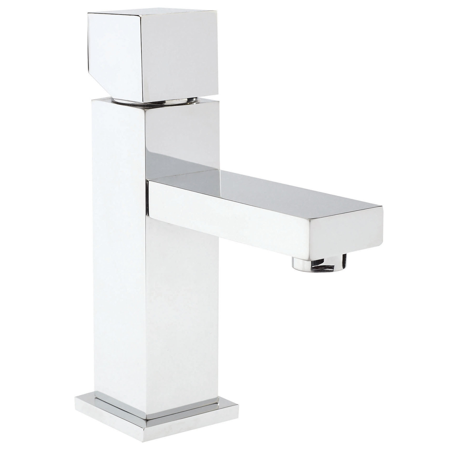 Hudson Reed Kubix Mono Basin Mixer Tap and Bath Shower Mixer Tap, Chrome