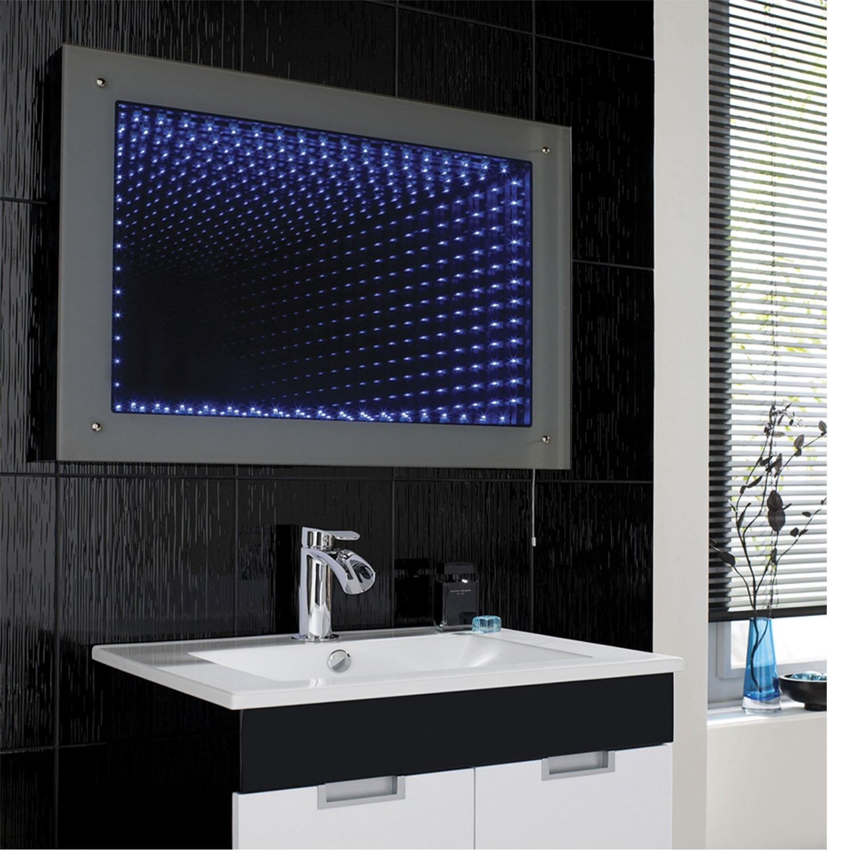Hudson Reed Lucio Infinity Bathroom Mirror 600mm H x 800mm W  - Silver