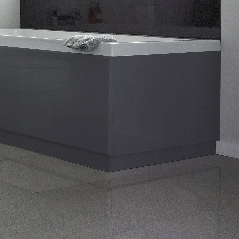 Hudson Reed MDF Bath End Panel 700mm Wide High Gloss Grey