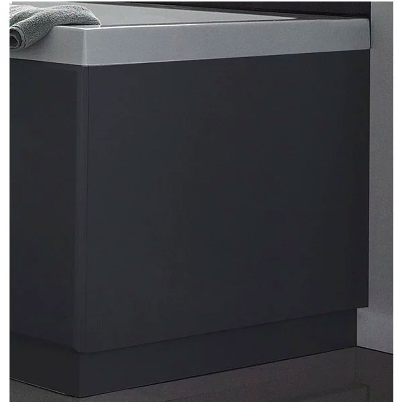 Hudson Reed MDF Bath End Panel 750mm Wide High Gloss Grey