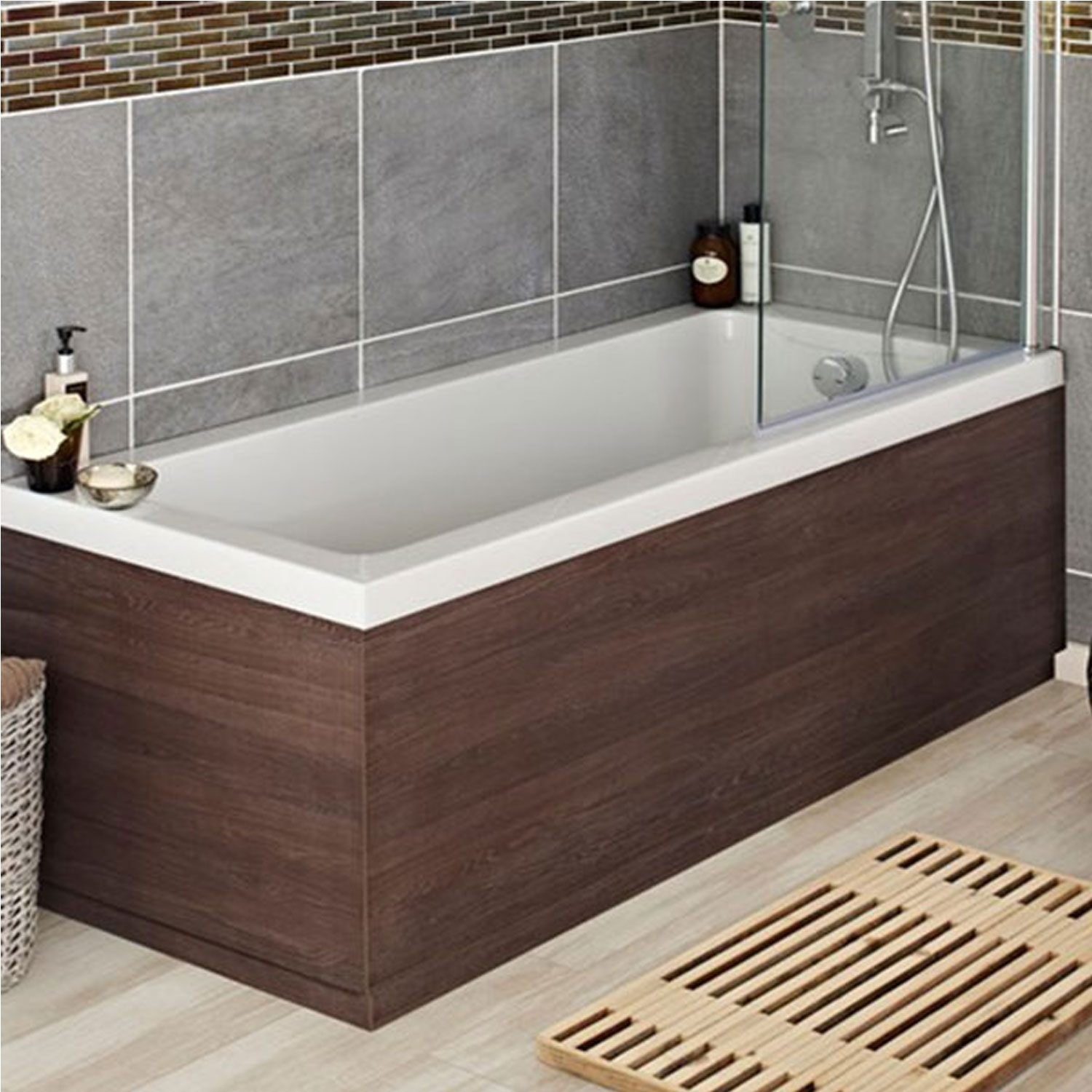 hudson reed mdf oak bath front panel 1700mm wide. Black Bedroom Furniture Sets. Home Design Ideas