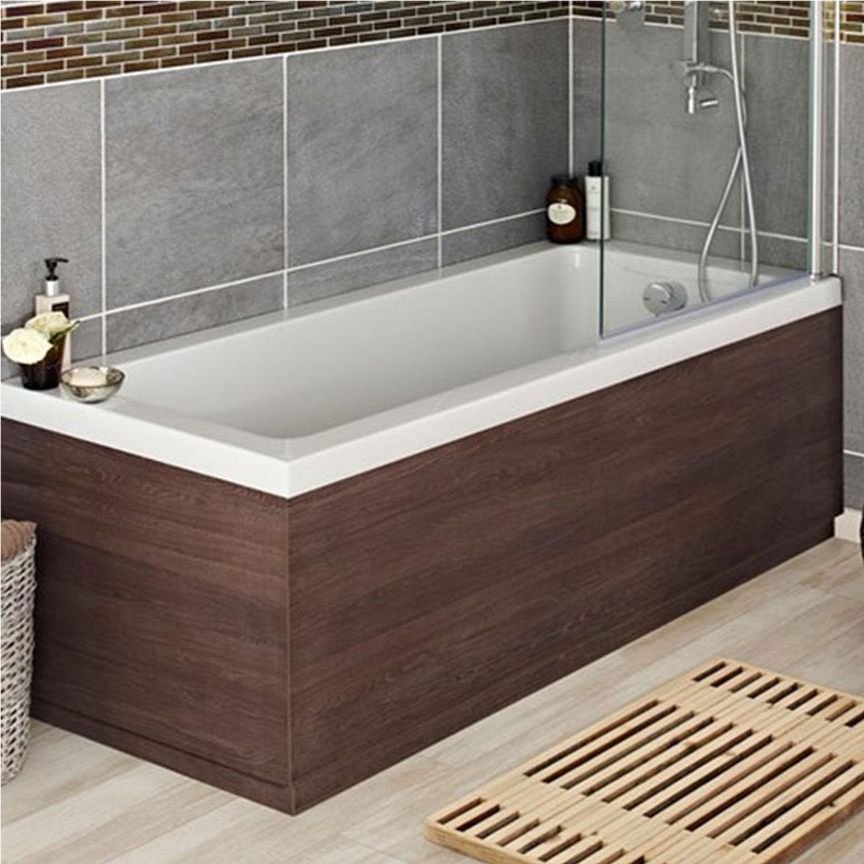 Hudson Reed MDF Bath End Panel 750mm Wide Mid Sawn Oak-0