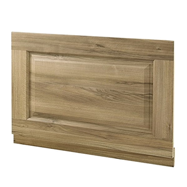 Hudson Reed Bath End Panel 550mm H x 750mm W - Natural Walnut