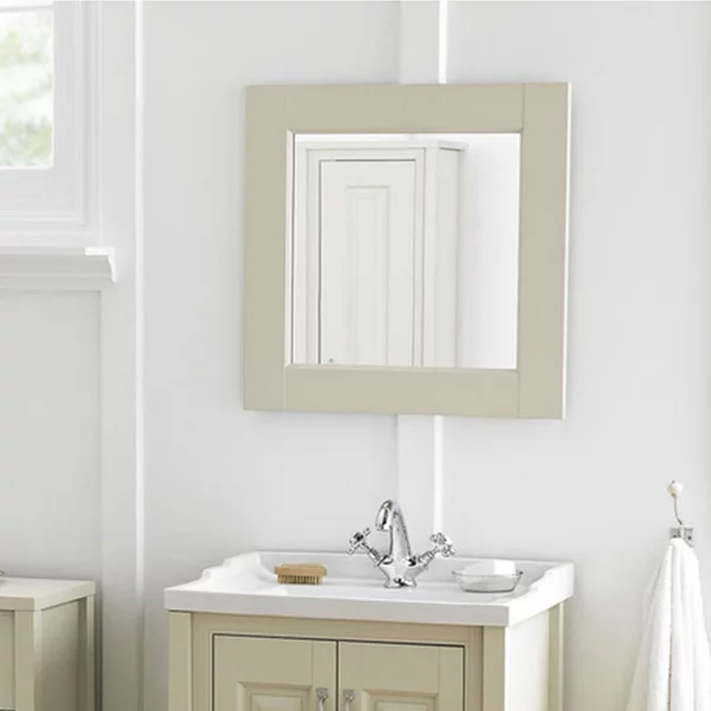 Hudson Reed Bathroom Furniture Mirror 600mm x 600mm, Natural Walnut