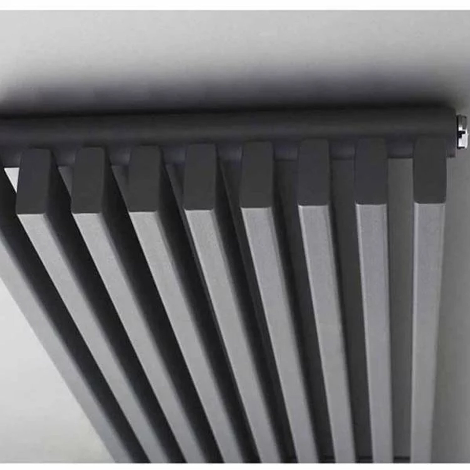 Hudson Reed Parallel Single Designer Vertical Radiator 1800mm H x 342mm W Anthracite