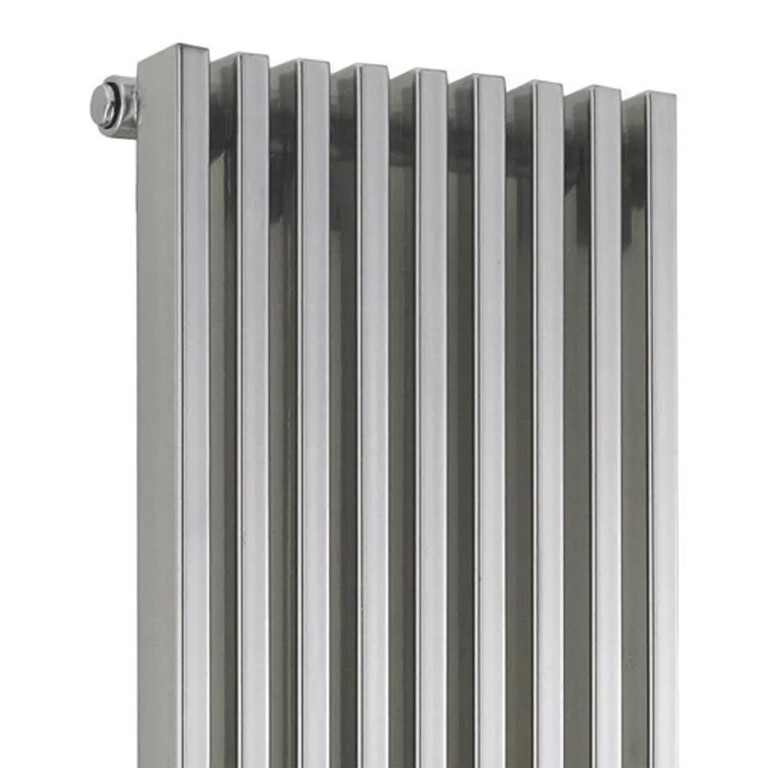 Hudson Reed Parallel Single Designer Vertical Radiator 1800mm H x 342mm W Gloss Silver-0