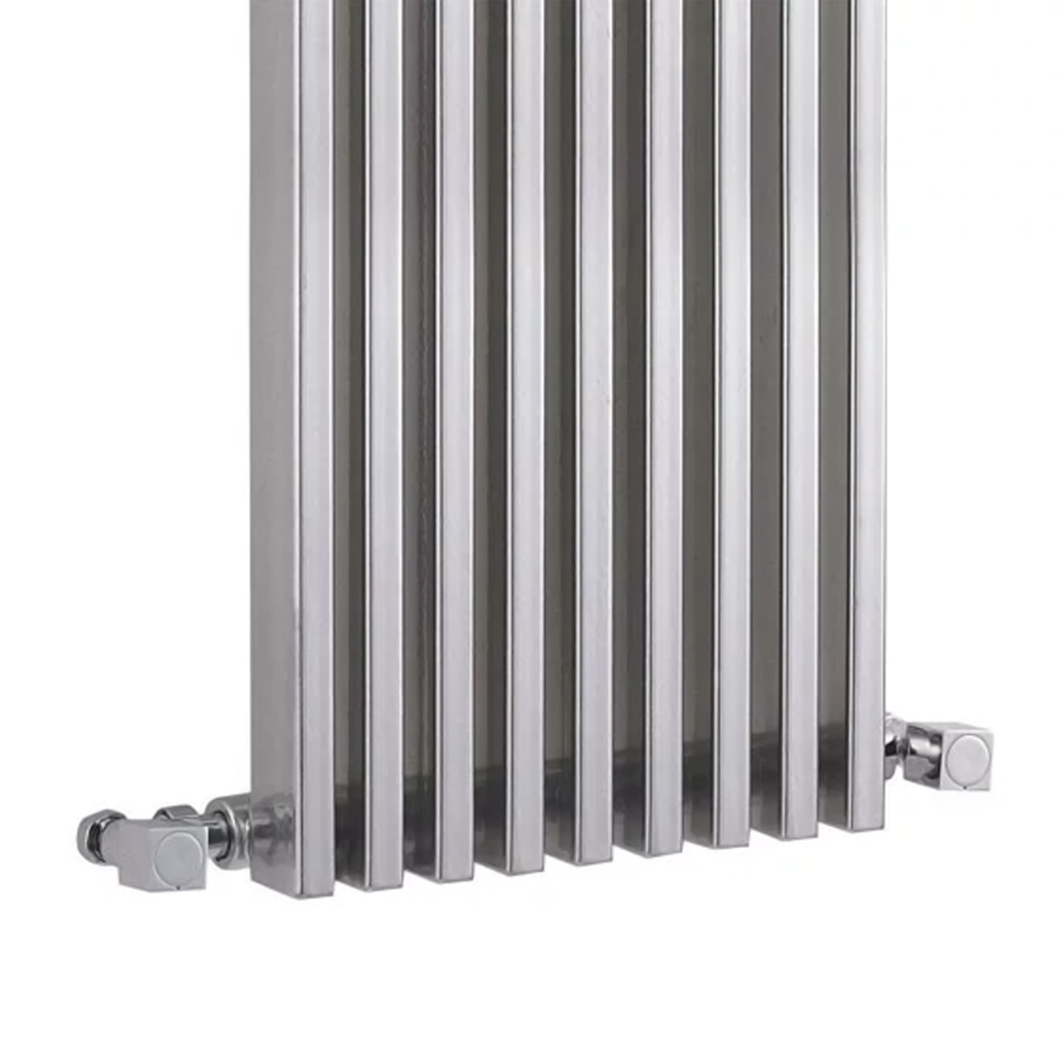Hudson Reed Parallel Single Designer Vertical Radiator 1800mm H x 342mm W Gloss Silver-1