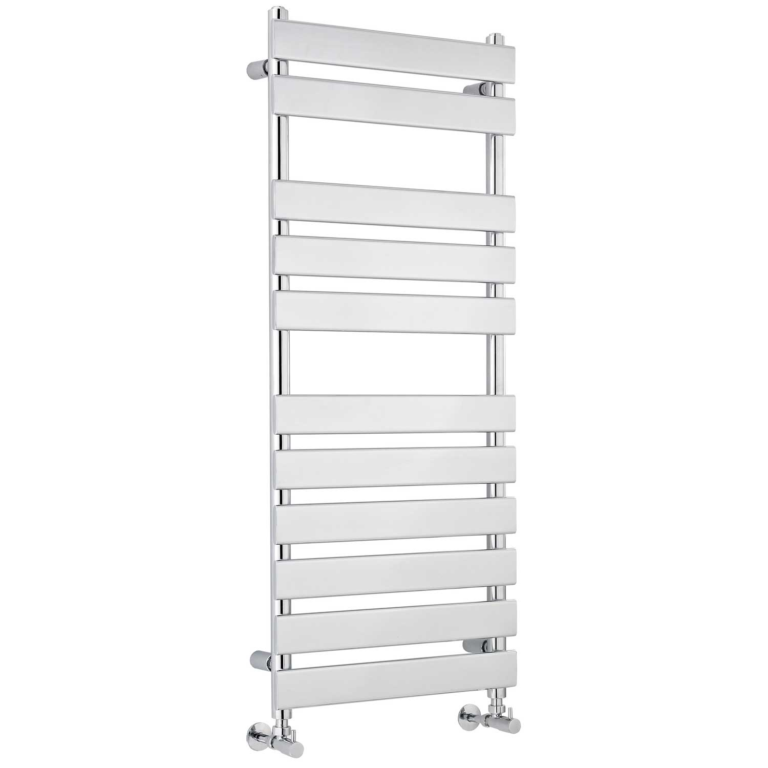 Hudson Reed Piazza Flat Panel Heated Towel Rail 1200mm H x 500mm W Chrome