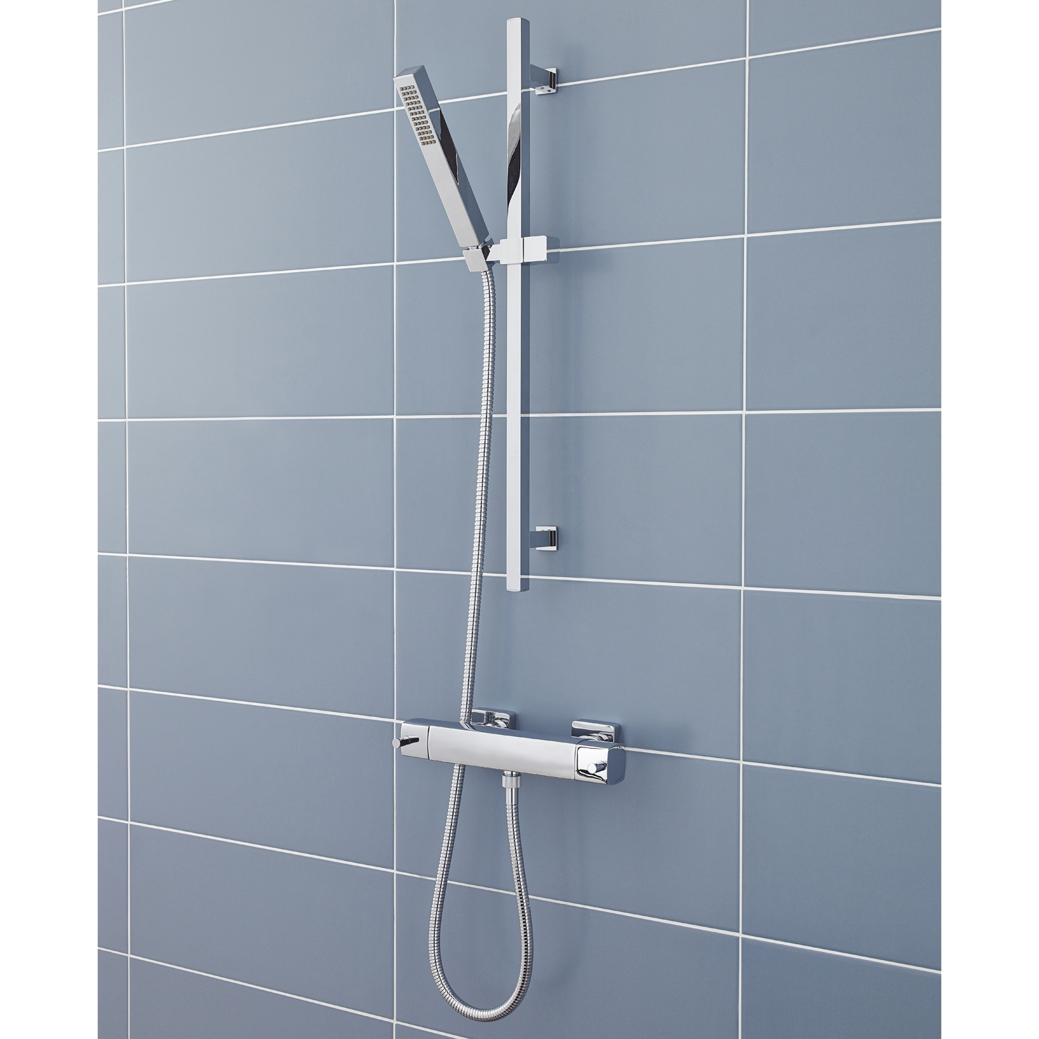 Hudson Reed Quadro Bar Mixer Shower with Slimline Shower Kit