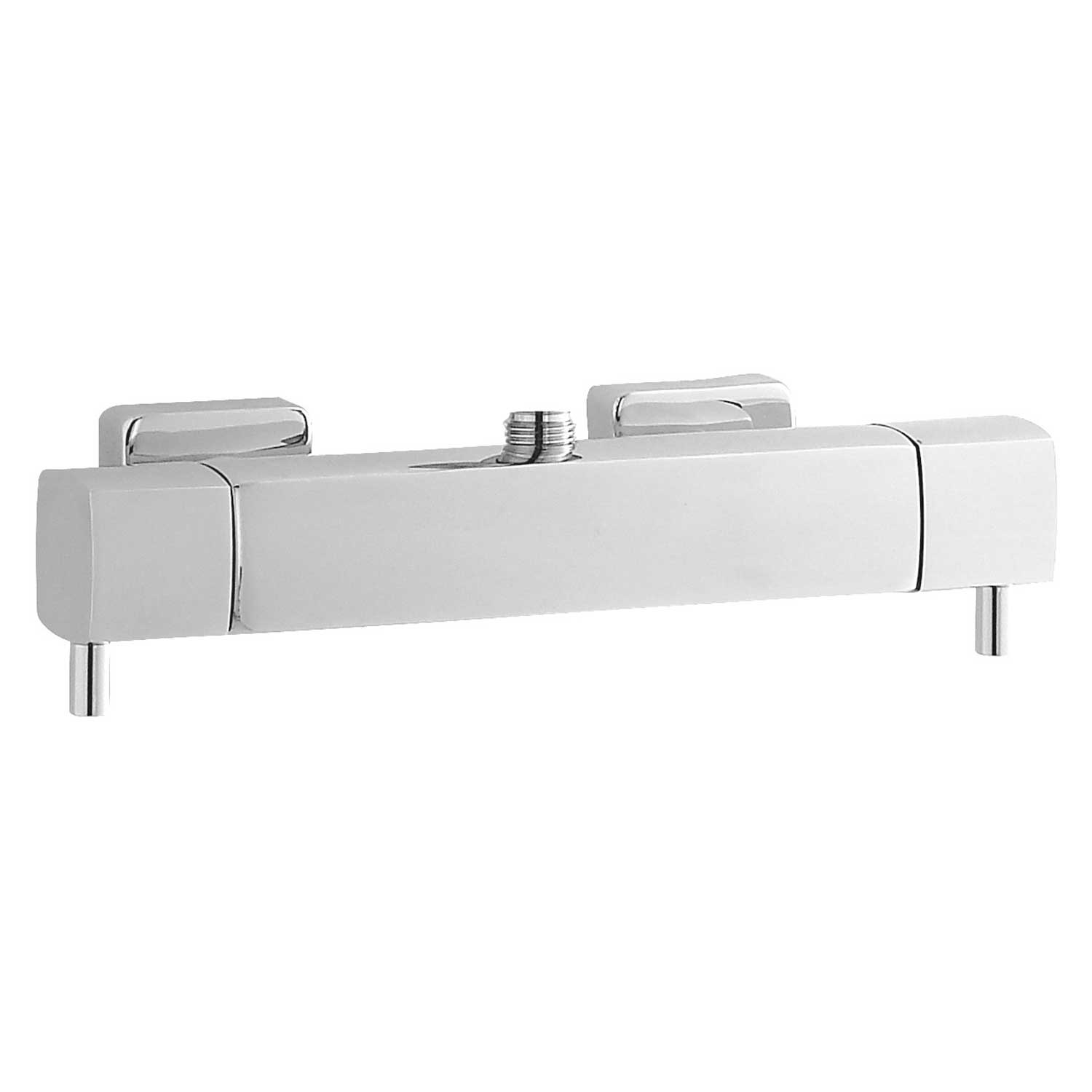 Hudson Reed Quadro Thermostatic Bar Shower Valve Top Outlet - Chrome