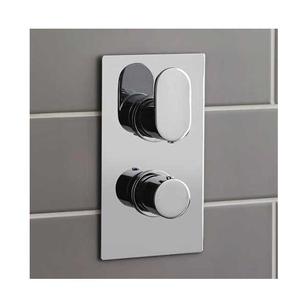 Hudson Reed Ratio Dual Concealed Shower Valve with Built-in Diverter - Chrome
