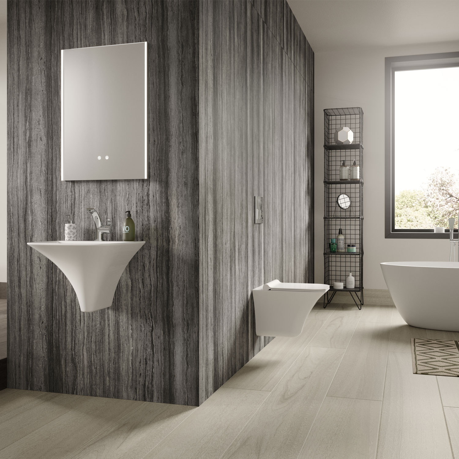 Hudson Reed Reverie Bathroom Mirror 700mm H x 500mm W-0