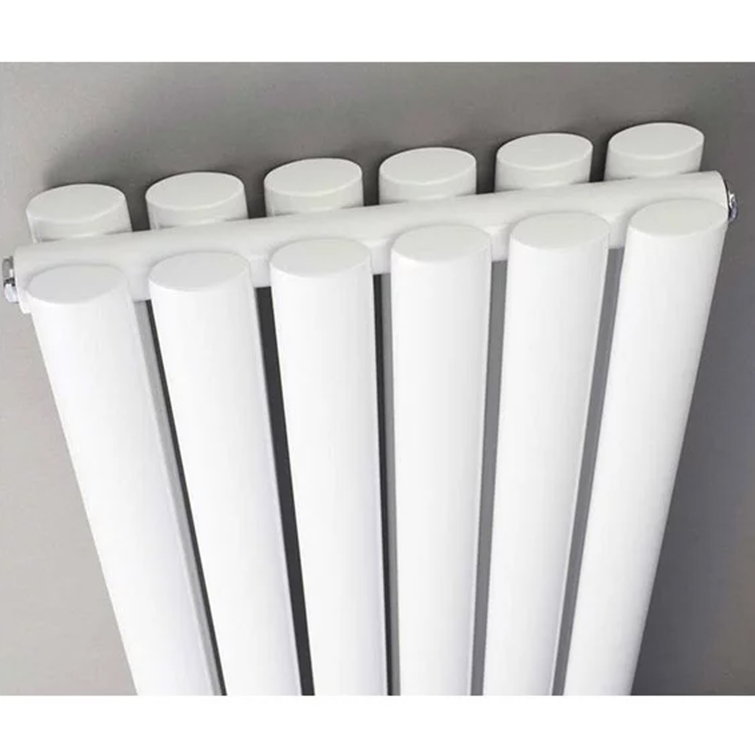 Hudson Reed Revive Double Designer Vertical Radiator 1800mm H x 354mm W White-0