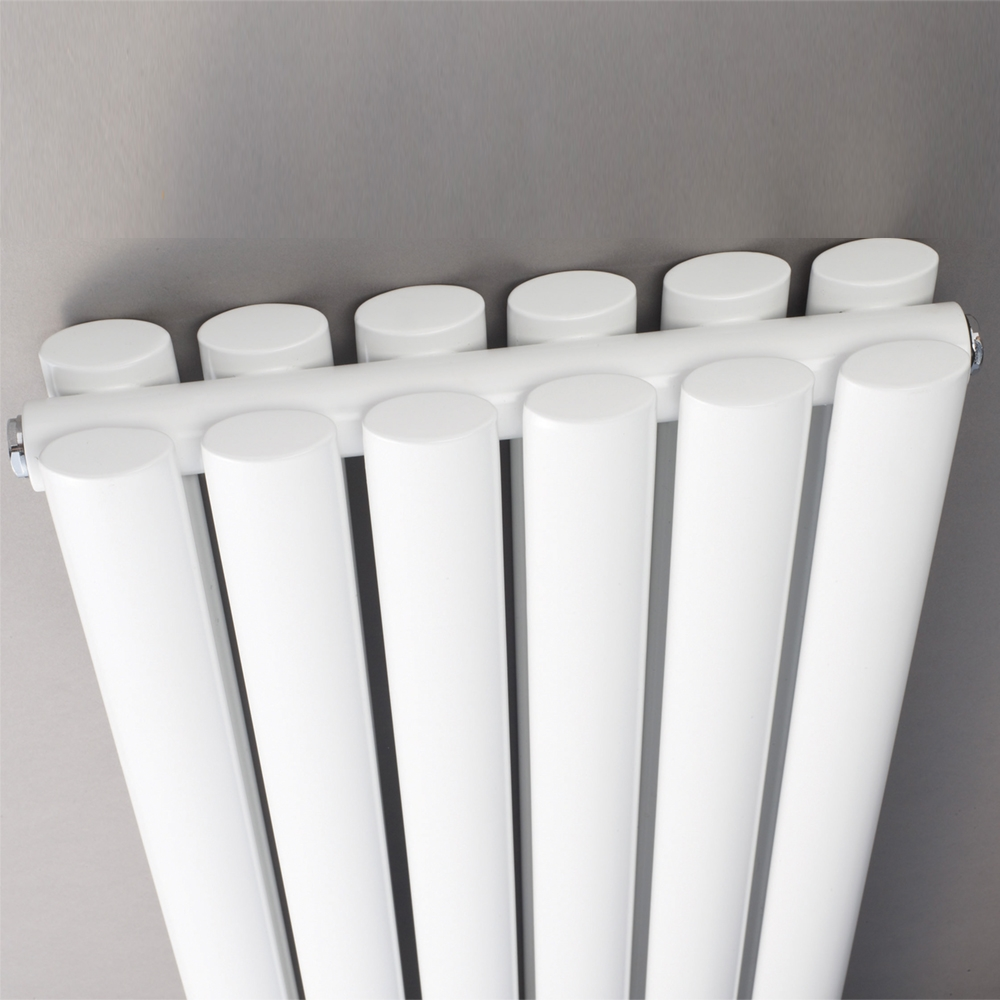 Hudson Reed Revive Double Designer Vertical Radiator 1500mm H x 354mm W White