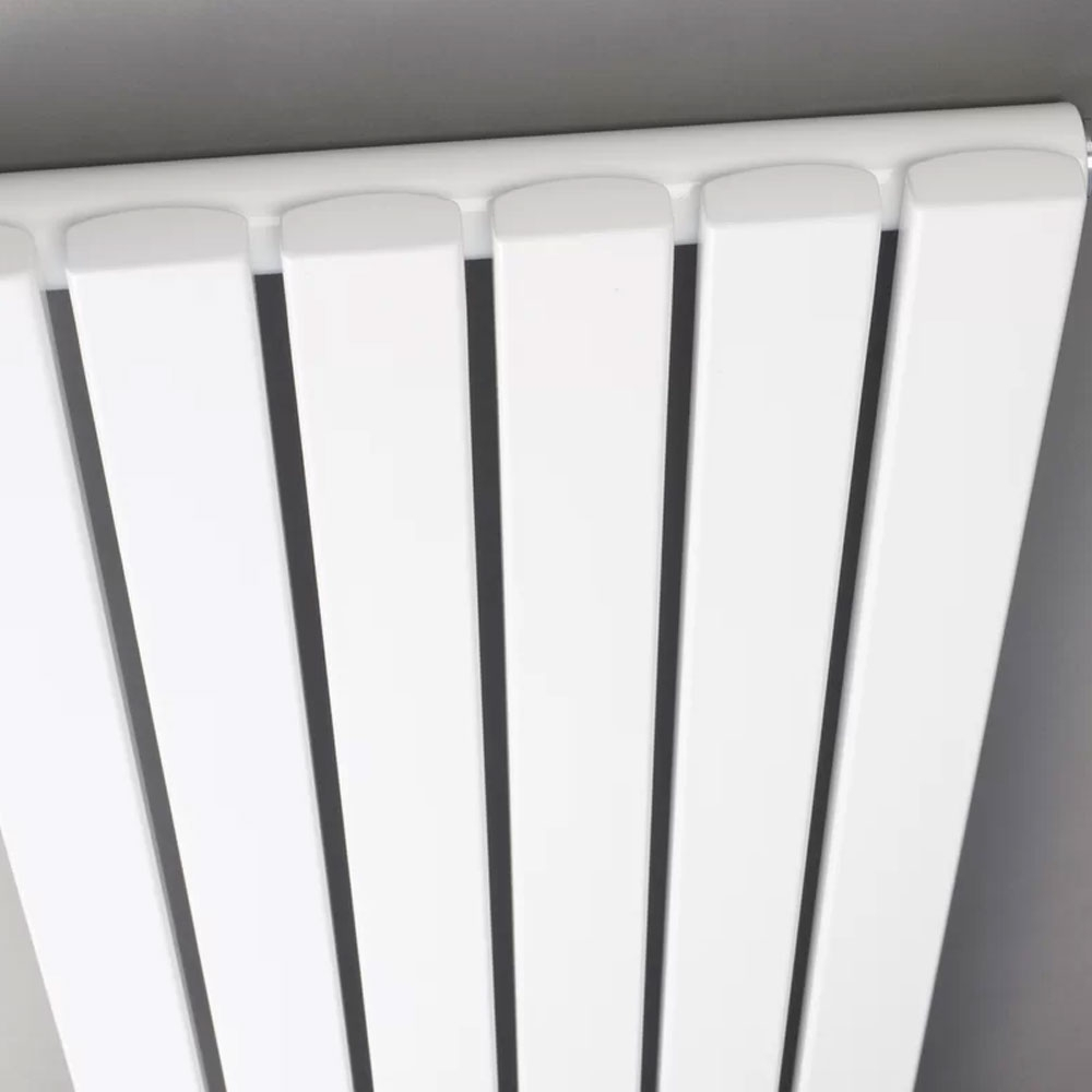 Hudson Reed Revive Single Panel Designer Horizontal Radiator 354mm H x 1800mm W Gloss White