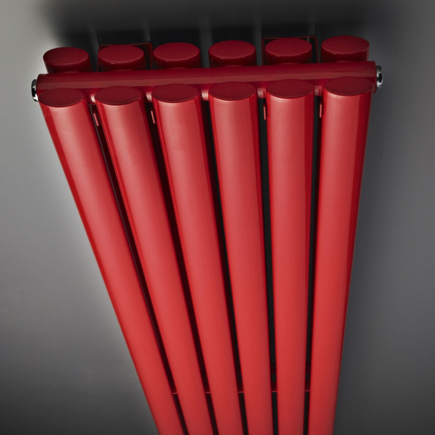 Hudson Reed Revive Double Designer Vertical Radiator 1800mm H x 355mm W Red