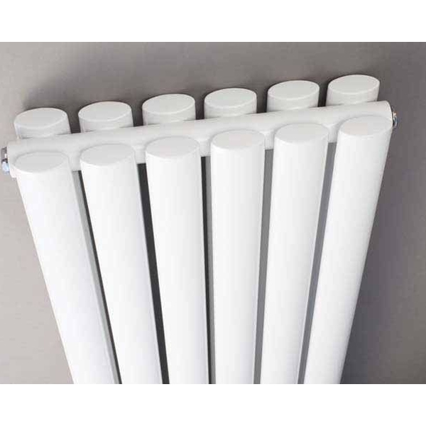 Hudson Reed Revive Space-Saving Double Designer Vertical Radiator 1800mm H x 236mm W White