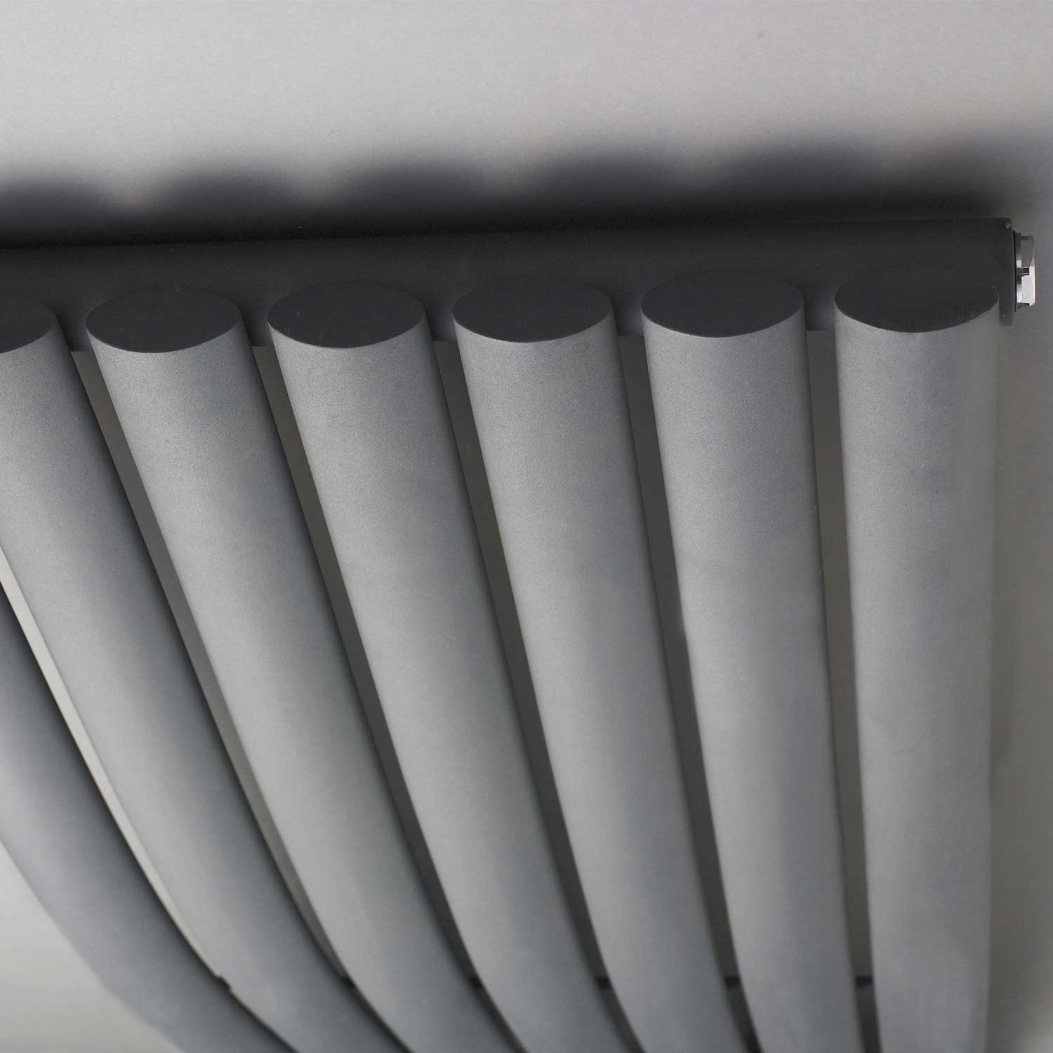 Hudson Reed Revive Wave Designer Vertical Radiator 1785mm H x 413mm W Anthracite