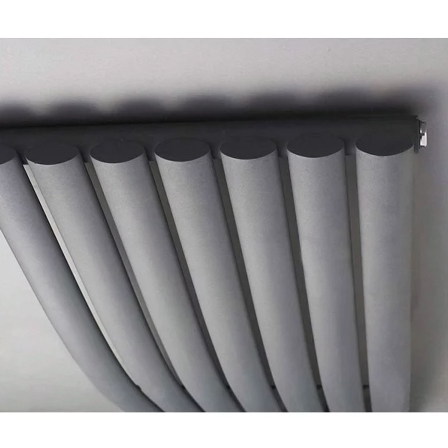 Hudson Reed Revive Wave Designer Vertical Radiator 1785mm H x 413mm W Gloss Black-0