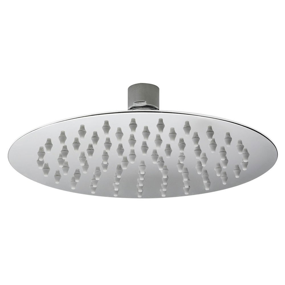 Hudson Reed Round Fixed Shower Head, 200mm Diameter, Chrome-0