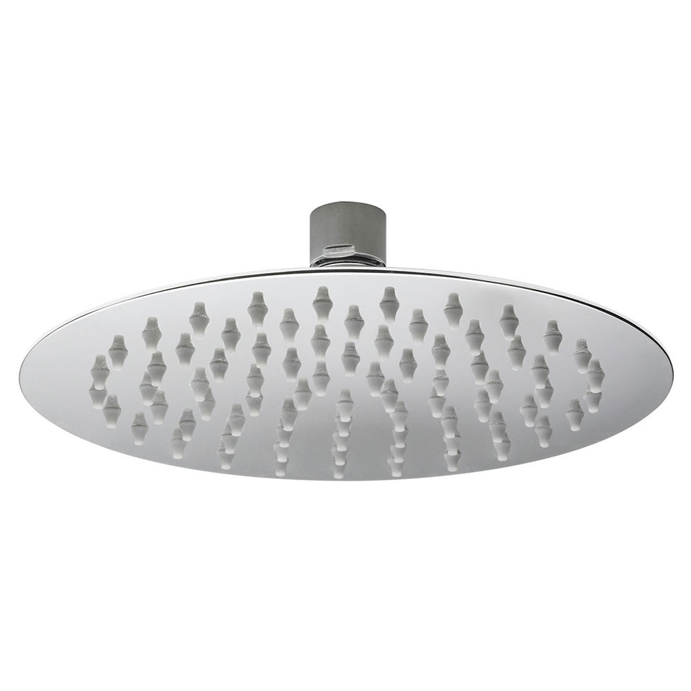 Hudson Reed Round Fixed Shower Head, 200mm Diameter, Chrome