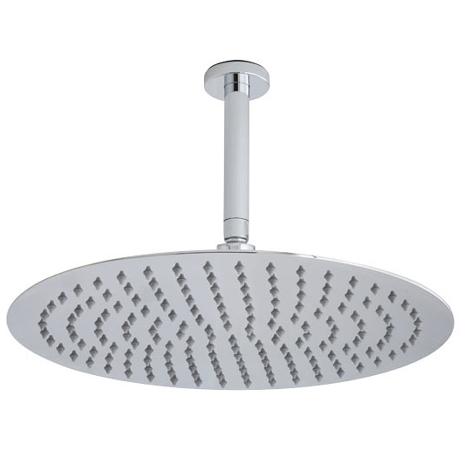 Hudson Reed Round Fixed Shower Head, 400mm Diameter, Stainless Steel