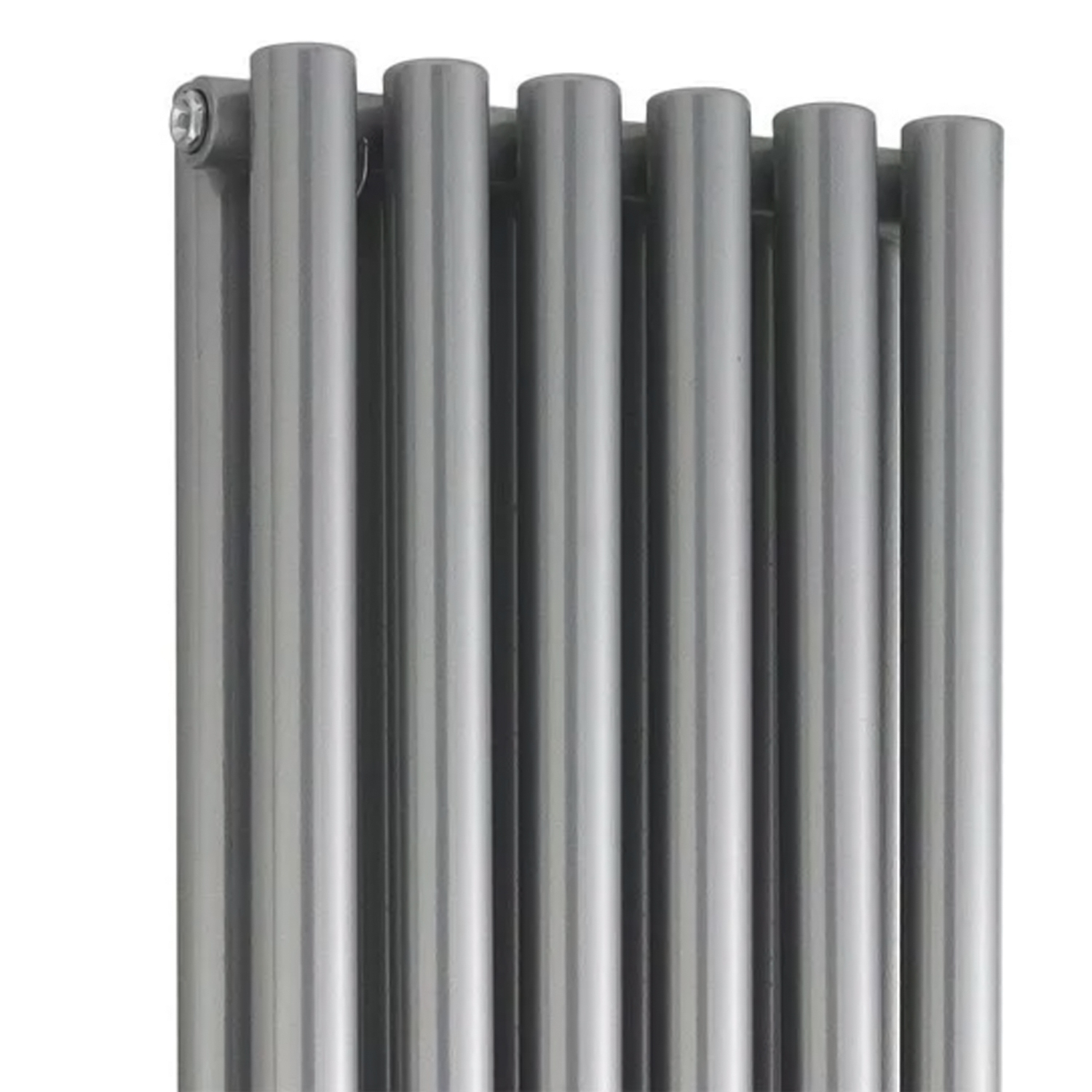 Hudson Reed Savy Double Designer Vertical Radiator 1800mm H x 354mm W Gloss Silver-0