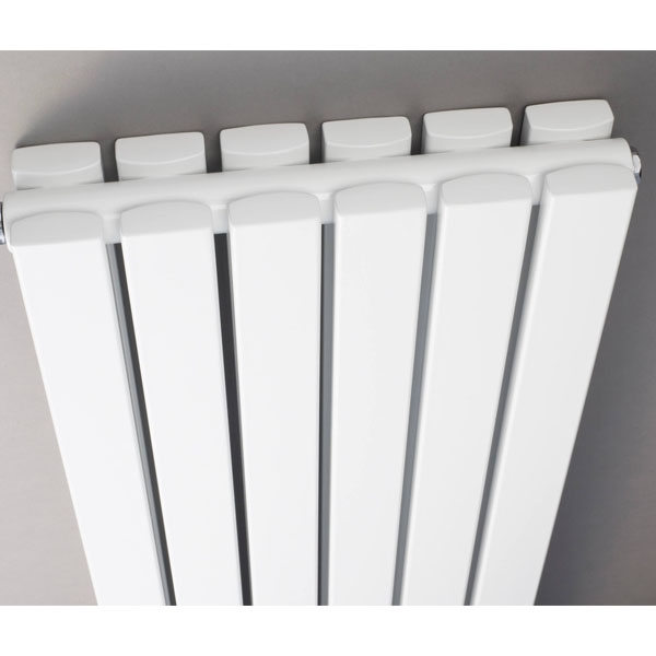 Hudson Reed Sloane Double Designer Vertical Radiator 1800mm H x 354mm W White