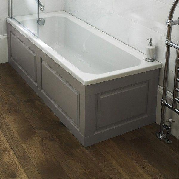 Hudson Reed Bath End Panel 550mm H x 750mm W - Stone Grey