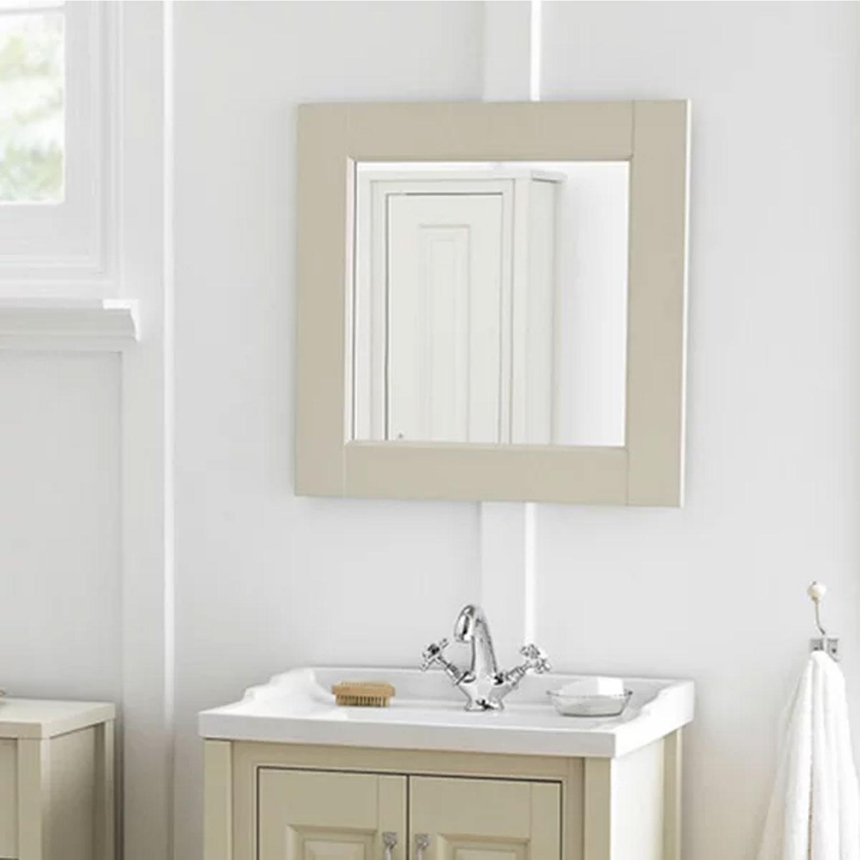 Hudson Reed Stone Grey Bathroom Furniture Mirror 600mm x 600mm