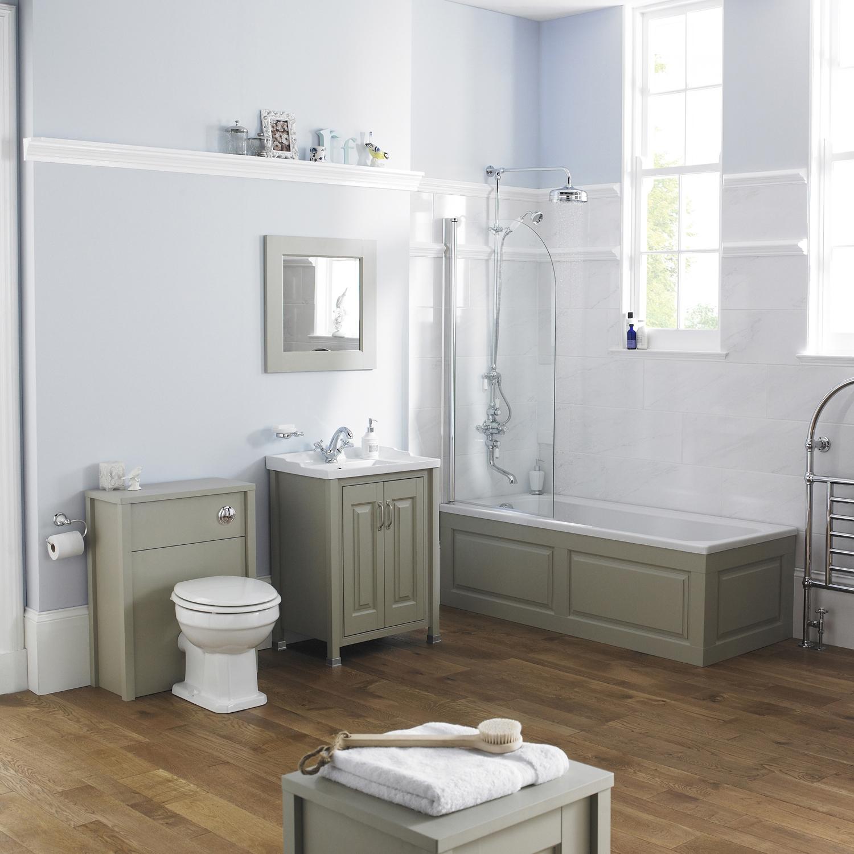 Hudson Reed Stone Grey Bathroom Vanity Unit & Basin 600mm Wide 1 Tap Hole