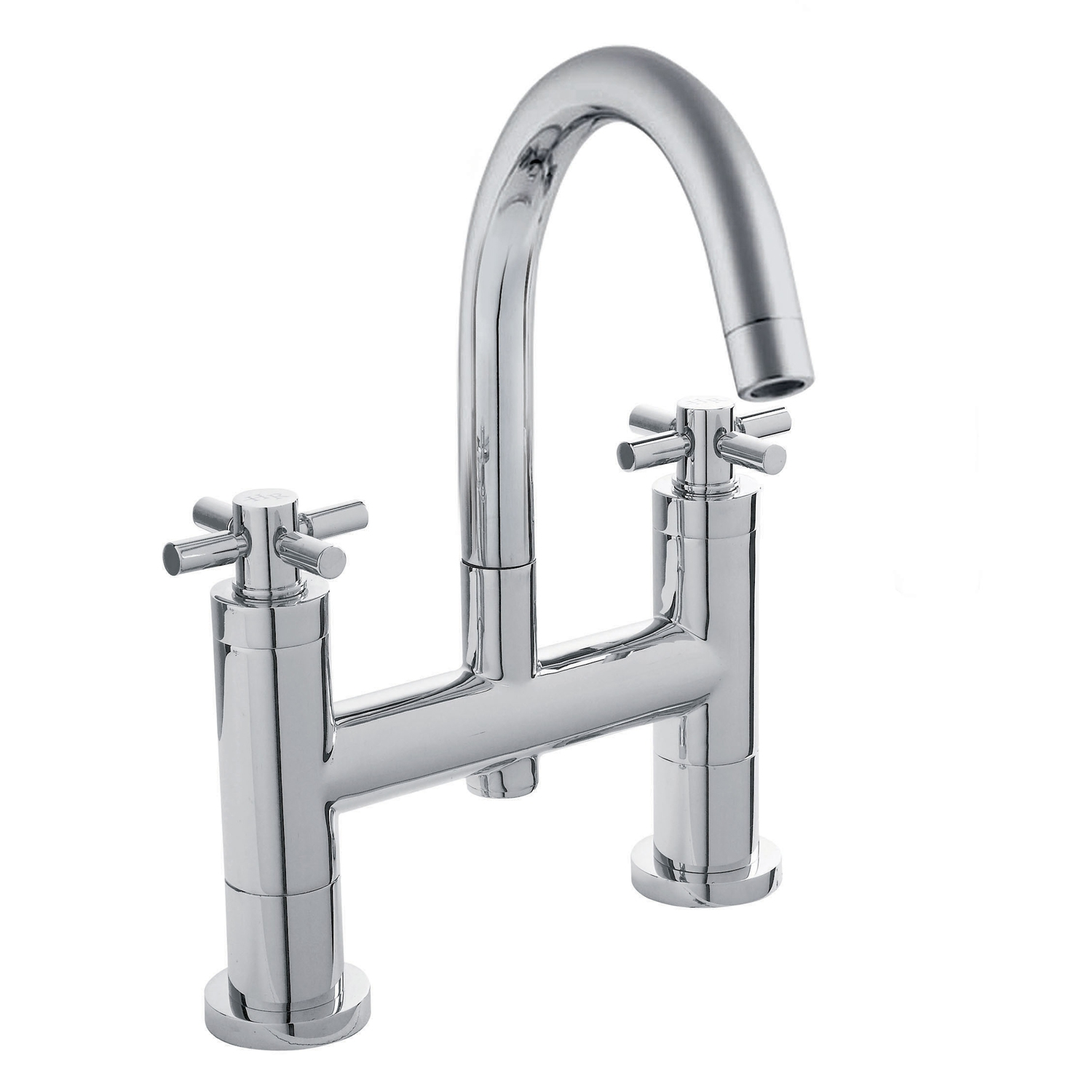 Hudson Reed Tec Crosshead 3 Hole Basin Mixer Tap and Bath Filler Tap, Chrome