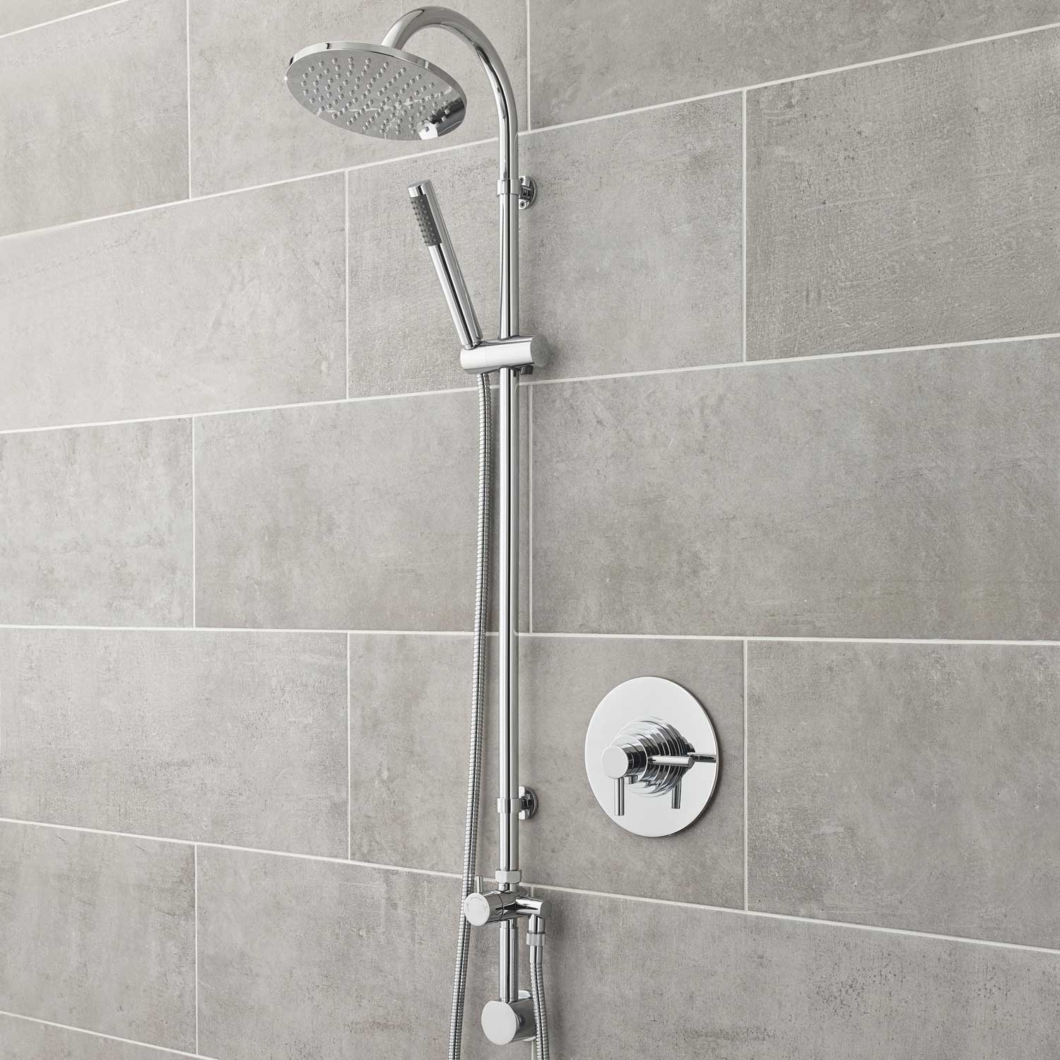 Hudson Reed Tec Dual Concealed Shower Valve Concentric Dual Handle - Chrome