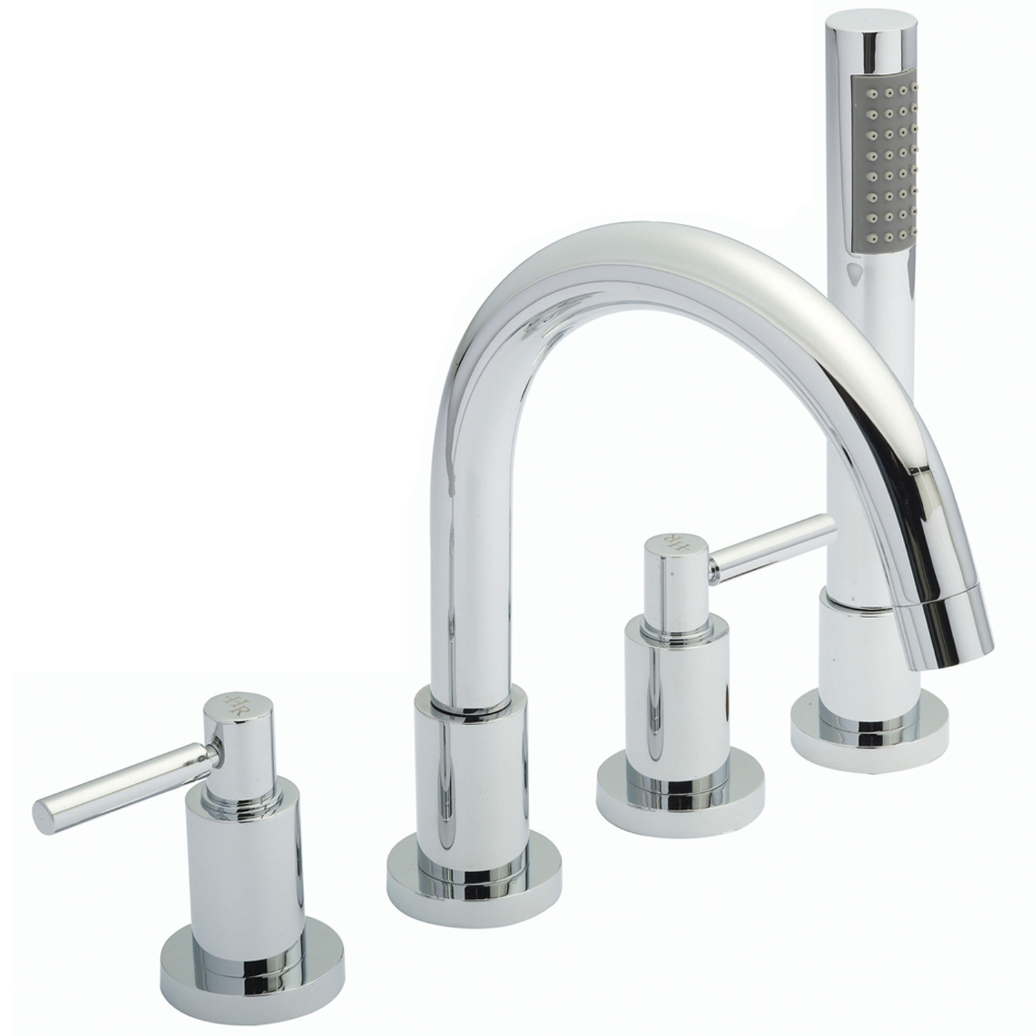 Hudson Reed Tec Lever Basin Mixer Tap and Shower Mixer Tap with Shower Kit, Chrome-0