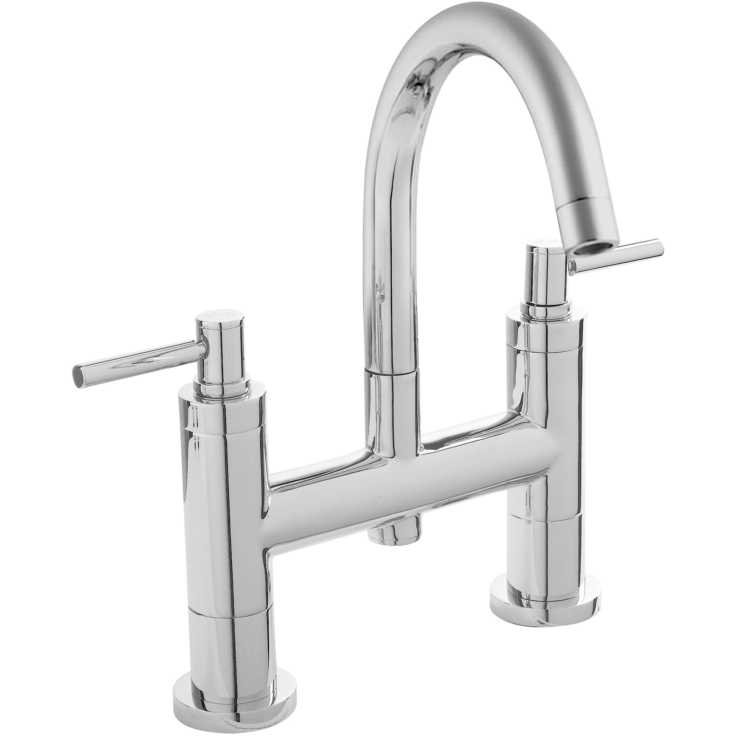 Hudson Reed Tec Lever Basin Mixer Tap and Bath Filler Tap, Chrome