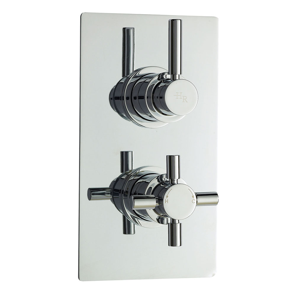 Hudson Reed Tec Pura Concealed Shower Valve Dual Handle - Chrome