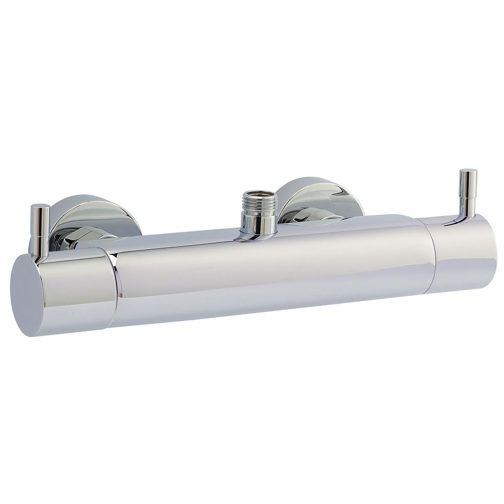 Hudson Reed TMV2 Minimalist Bar Shower Valve Top/Bottom Outlet - Chrome