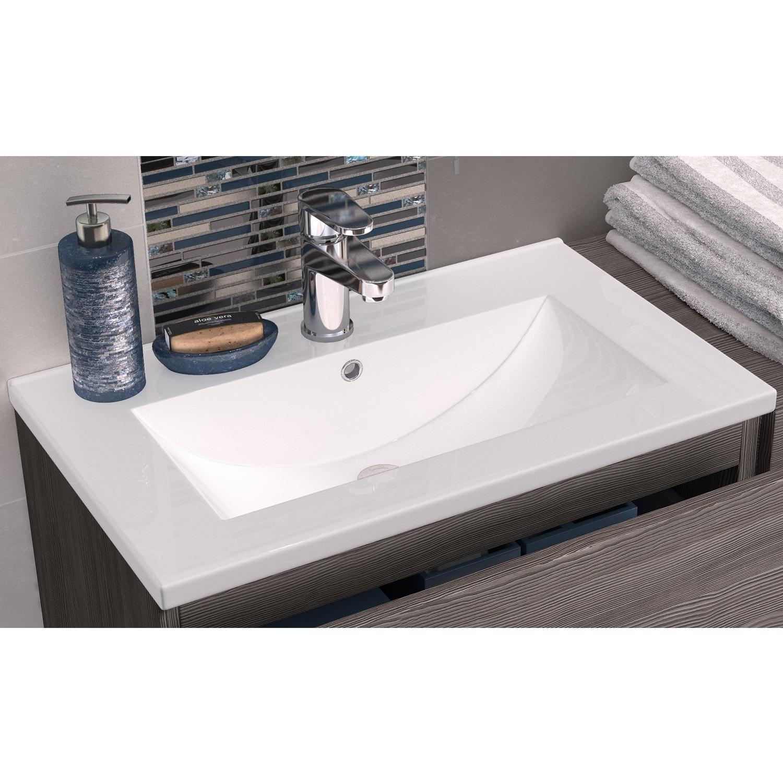 Hudson Reed Urban Wall Mounted Vanity Unit with Minimalist Basin 500mm Wide Grey Avola 1 Tap Hole-0