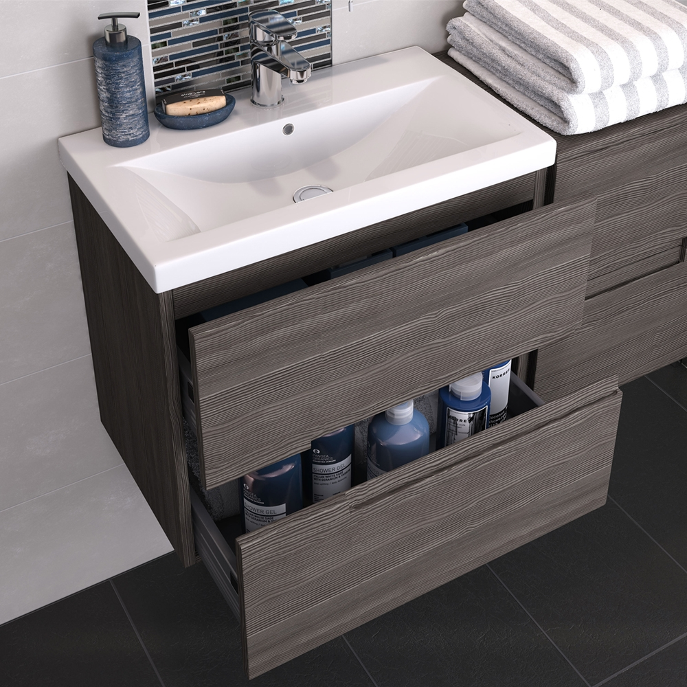 Hudson reed urban vanity unit 805mm wall mounted urb518e for Bathroom cabinets 400mm wide