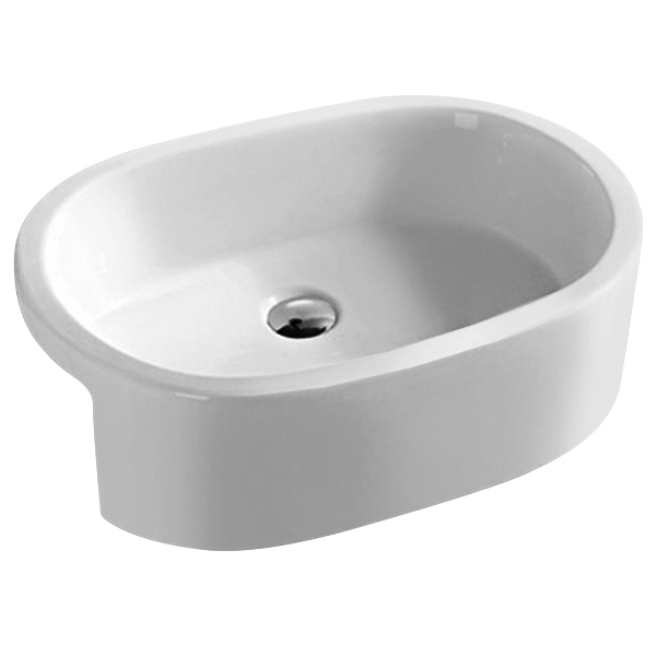 Hudson Reed Vessel Semi Recessed Basin 570mm Wide - 0 Tap Hole