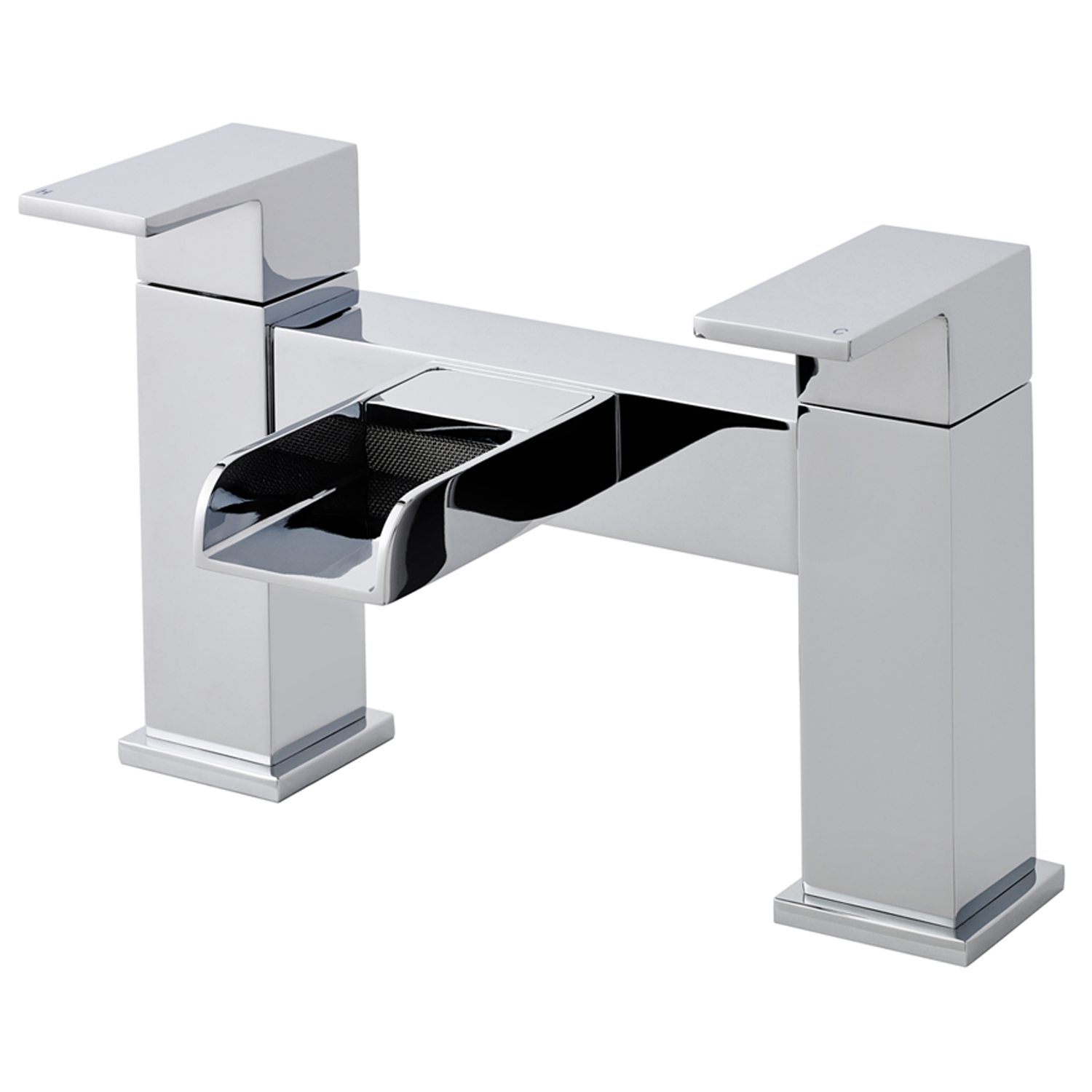 Hudson Reed Waterfall Mini Mono Basin Mixer Tap and Bath Filler Tap, Chrome