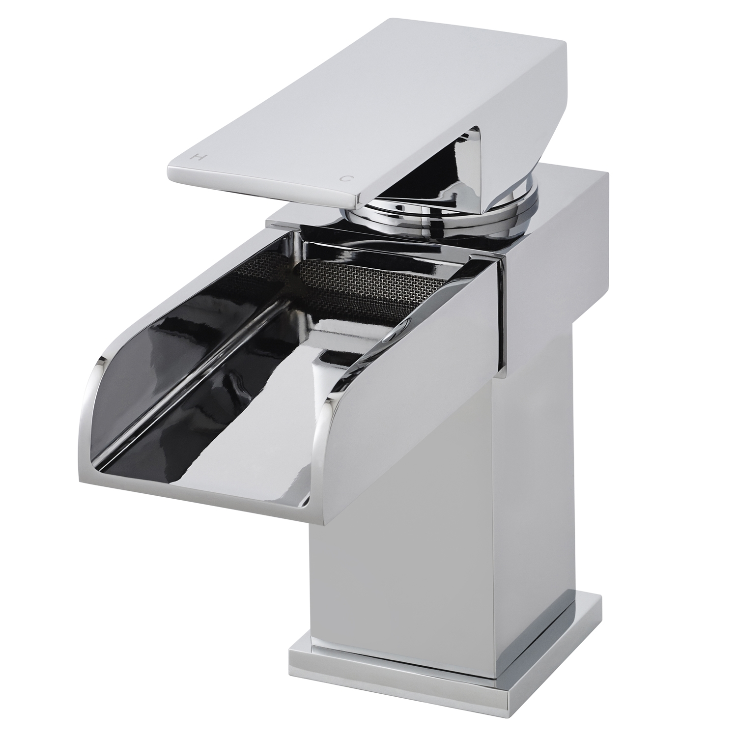 Hudson Reed Waterfall Mono Basin Mixer Tap and Bath Filler Tap, Chrome