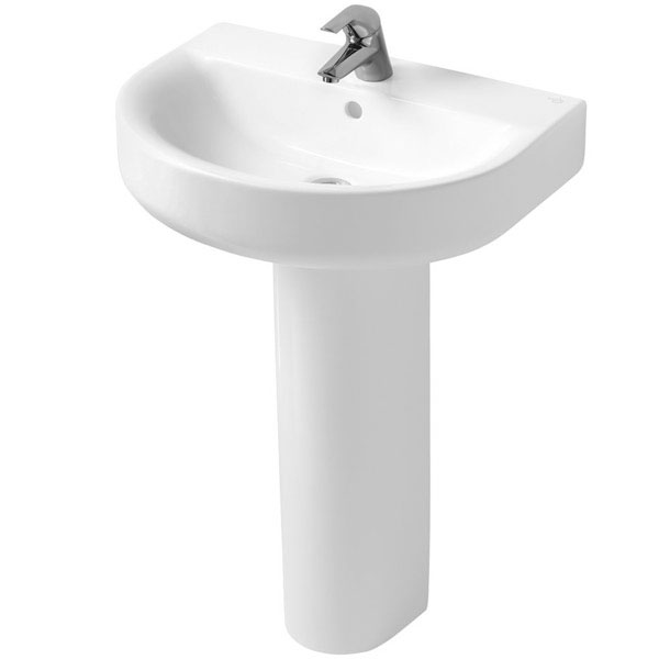 Ideal Standard Concept Arc Basin and Full Pedestal 550mm Wide 1 Tap Hole