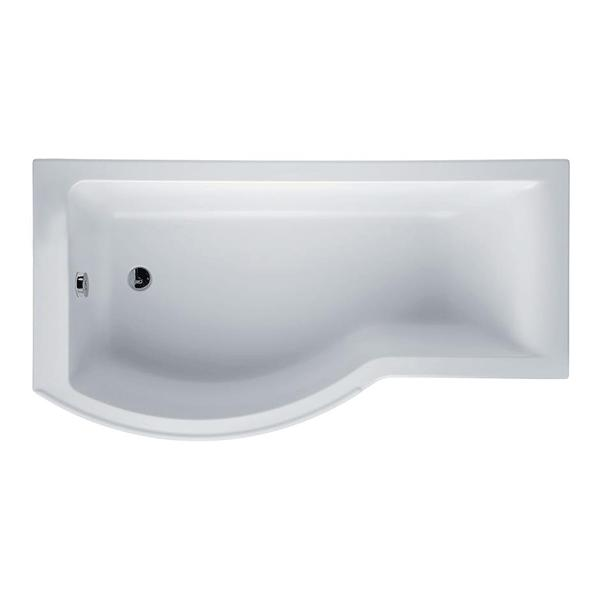 Ideal Standard Concept Shower Bath 1700mm x 700mm/900mm Left Handed 0 Tap Hole - White-0
