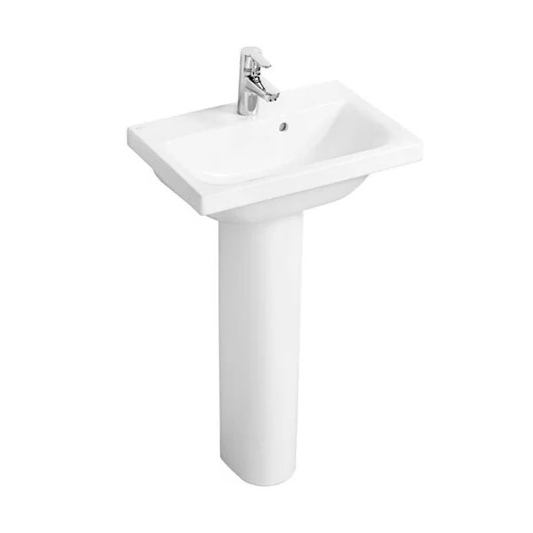 Ideal Standard Concept Space Basin and Full Pedestal 550mm x 380mm 1 Tap Hole