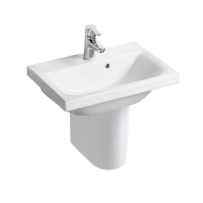Ideal Standard Concept Space Basin and Semi Pedestal 550mm x 380mm 1 Tap Hole