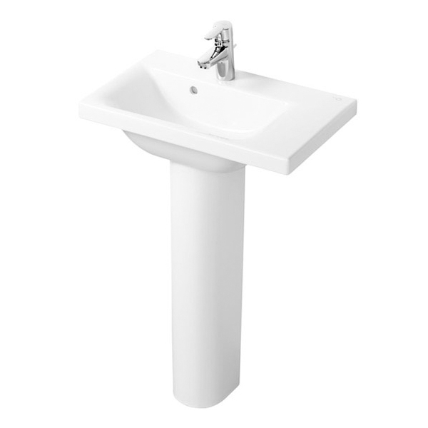 Ideal Standard Concept Space Right Hand Basin and Full Pedestal 700mm x 380mm 1 Tap Hole