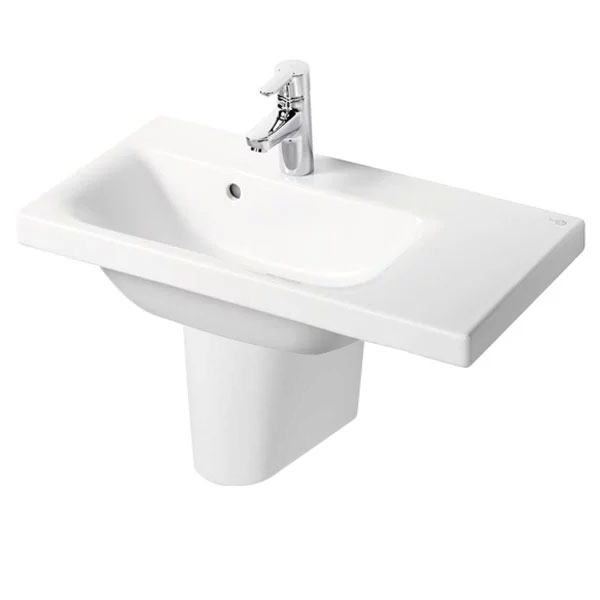 Ideal Standard Concept Space Right Hand Basin and Semi Pedestal 700mm x 380mm 1 Tap Hole