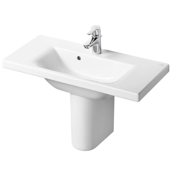 Ideal Standard Concept Space Basin and Semi Pedestal 800mm x 380mm 1 Tap Hole