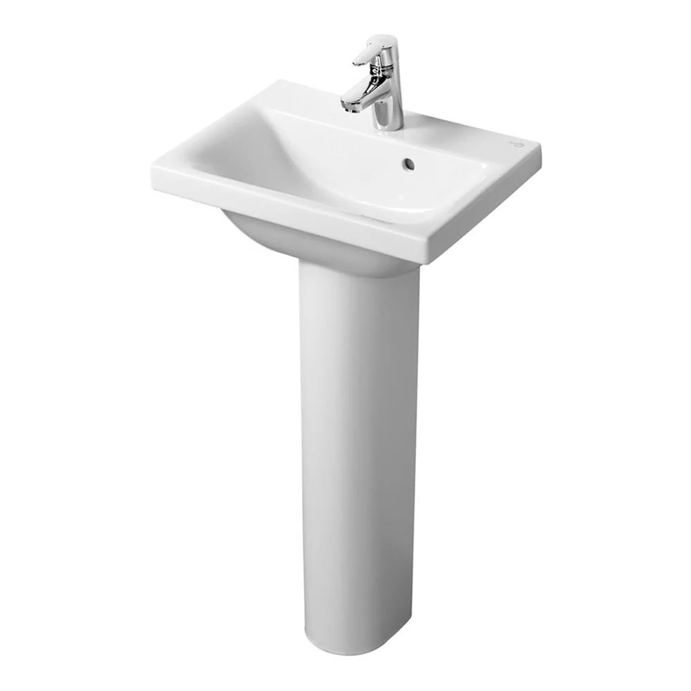 Ideal Standard Concept Space Basin with Full Pedestal 500mm Wide - 1 Tap hole